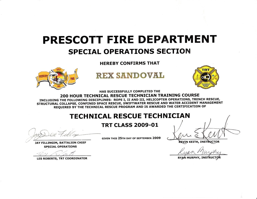 Credentials rex sandovals profile these are some of the main fire service certifications that i currently hold others not pictured wildland sr130190 red card and hazmat operations 1betcityfo Image collections